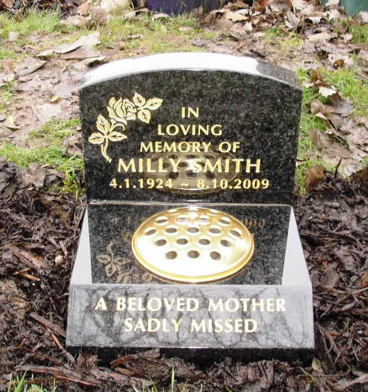 Dark Grey Granite small grave marker -optima letters.jpg